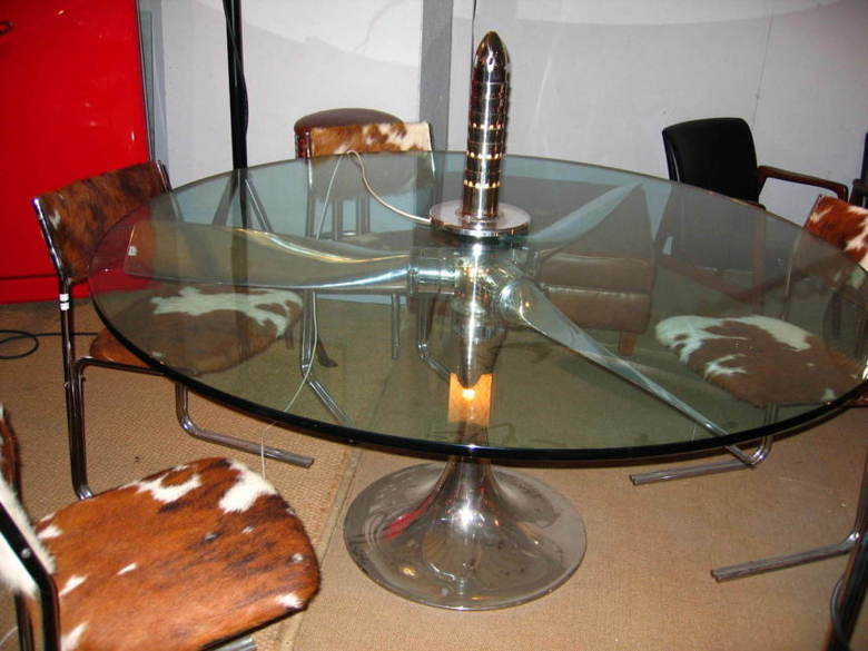 Table hélice tripale alu poli