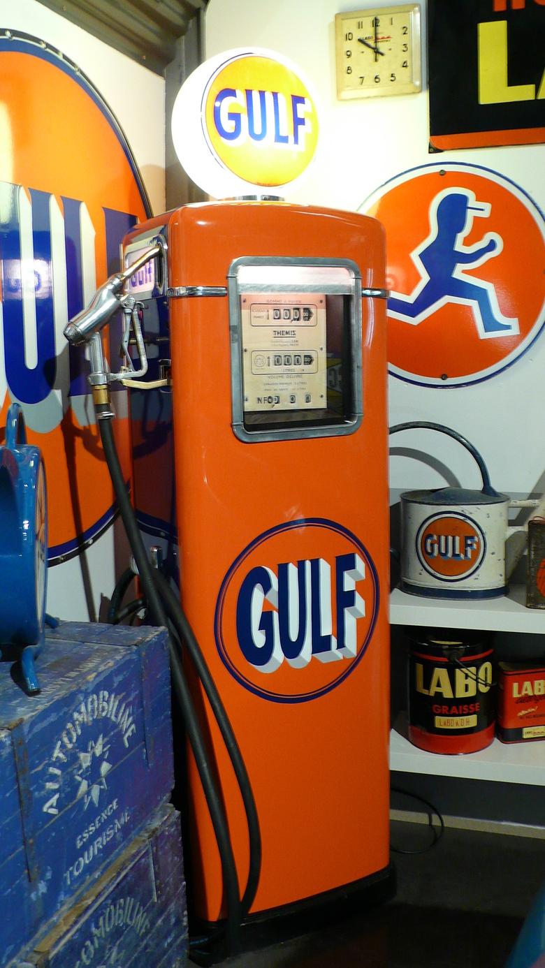 "Pompe à essence Themis ""Gulf"""