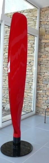 Pale de Skyraider laquée rouge
