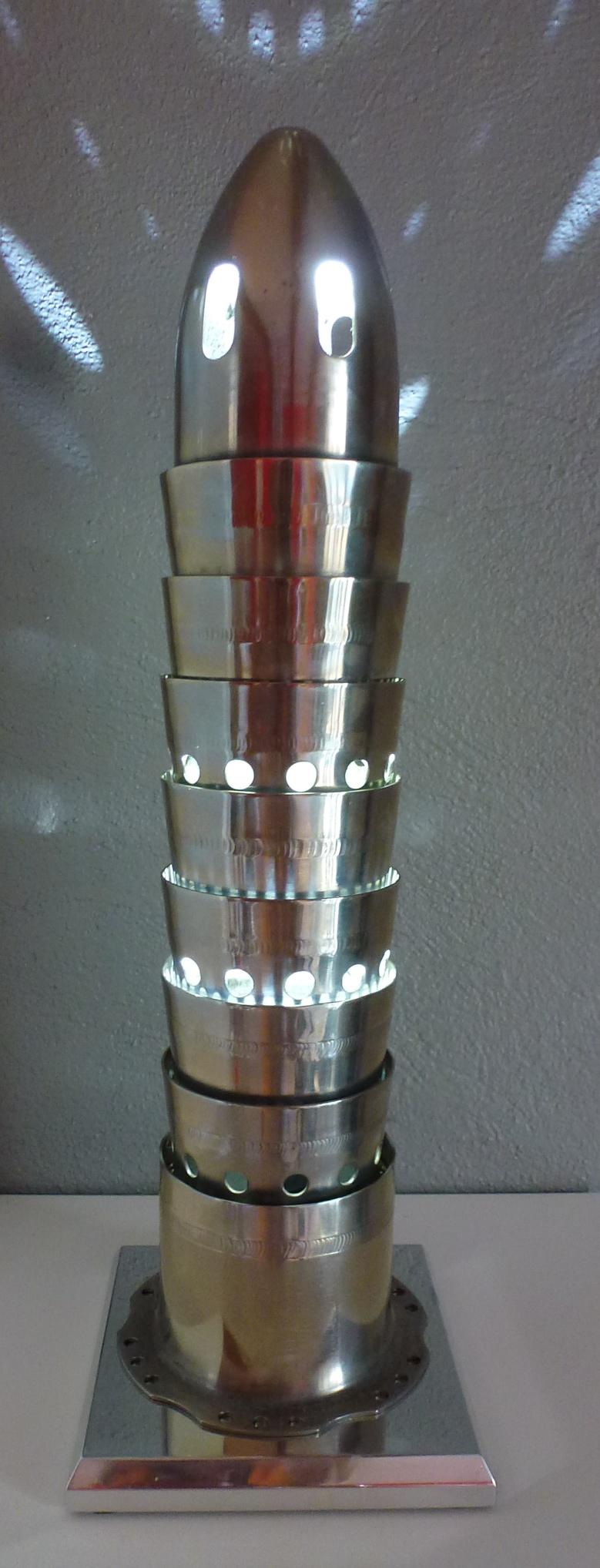 """Lampe de bureau """"Tube à flammes"""" (vendues 2/4)"""