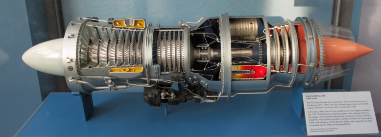 """Lampe """"Chambre de combustion de turbo-réacteur"""" Boeing B-52 Stratofortress"""