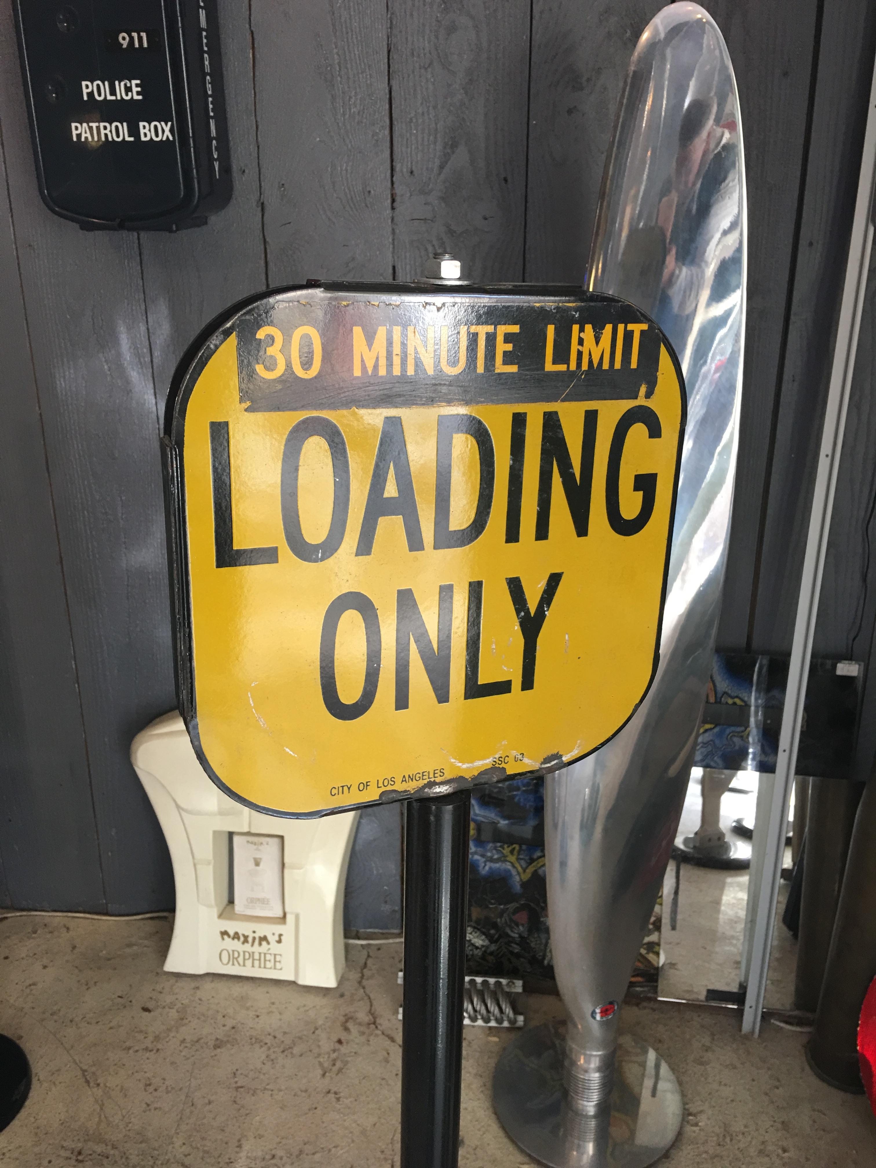 Plaque de limitation de stationnement en tôle émaillée Ville de Los Angeles
