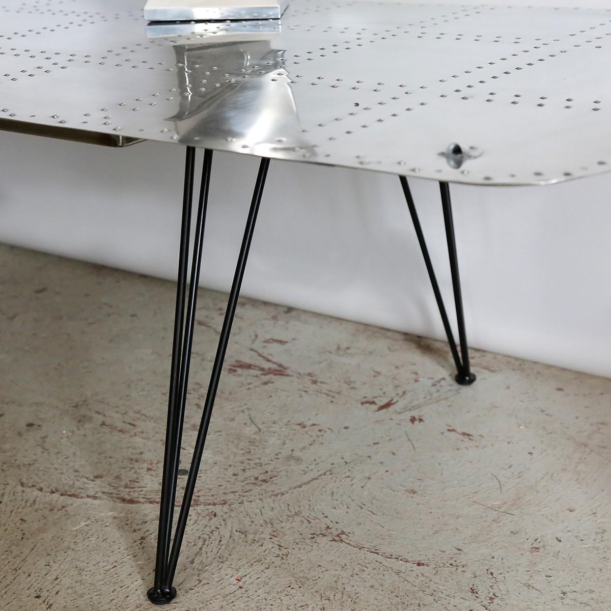 Table de salon - Trappe d'aile d'avion Broussard
