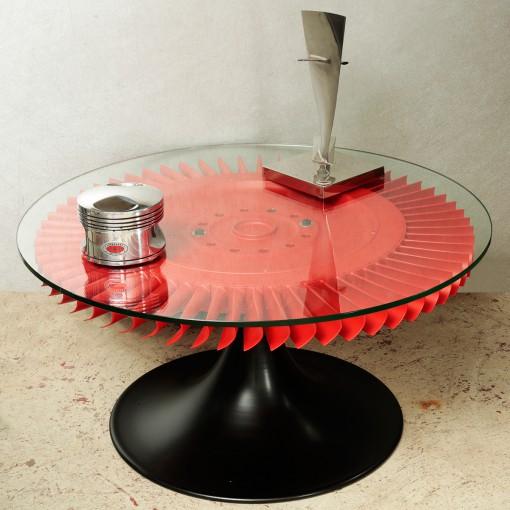 """Table de salon """"Couronne de réacteur"""" (vendue 1/2)"""