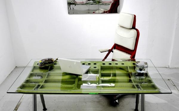 """Bureau ou Table de salle à manger aéronautique """"Trappe"""" d'avion Breguet Atlantique"""